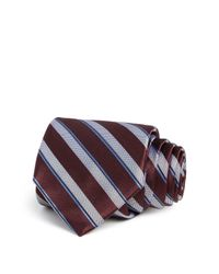 W.r.k. | Purple Broken Stripe Classic Tie for Men | Lyst