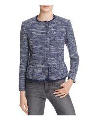 Joie   Blue Milligan Tweed Peplum Jacket   Lyst