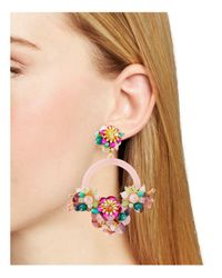 Kate Spade - Pink Floral Bouquet Drop Earrings - Lyst