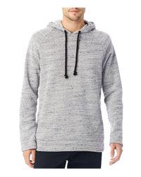 Alternative Apparel | Gray Wheels Up Mélange Fleece Pullover Hoodie Sweatshirt for Men | Lyst