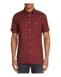 DIESEL | Red S-dusk Geo Print Regular Fit Button-down Shirt for Men | Lyst