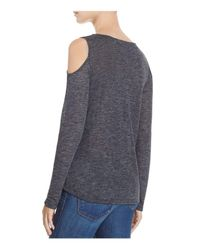 Splendid - Gray Cold Shoulder Top - Lyst