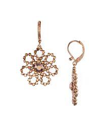 kate spade new york | Metallic Open Floral Drop Earrings | Lyst