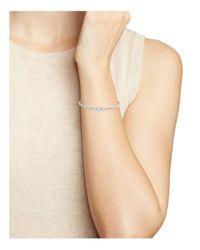 Nadri | Metallic Three Stone Pavé Cuff Bracelet | Lyst