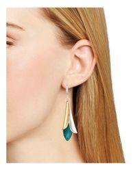 Robert Lee Morris - Metallic Petal Drop Earrings - Lyst