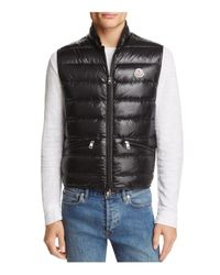 Moncler Black Gui Quilted Down Vest for men