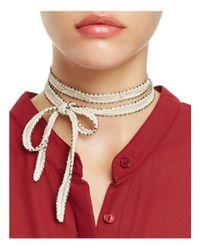 Chan Luu | Chiffon Embroidered Necktie | Lyst