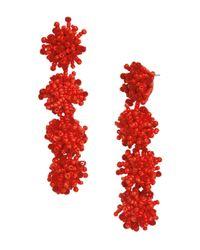 BaubleBar - Red Ria Drop Earrings - Lyst