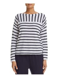 Eileen Fisher - Multicolor Mixed Stripe Top - Lyst