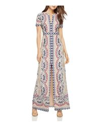 BCBGMAXAZRIA - Blue Print Burn-out Maxi Dress - Lyst