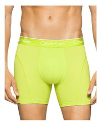 Calvin Klein - Yellow Air Fx Boxer Briefs for Men - Lyst