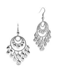 John Hardy - Metallic Women's Palu Silver Disc Chandelier Earrings - Lyst