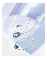 Meira T - 14k White Gold Blue Sapphire And Moonstone Doublet Bracelet With Diamonds - Lyst