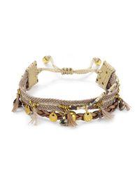 Chan Luu - Metallic Mixed Stone Bracelet - Lyst