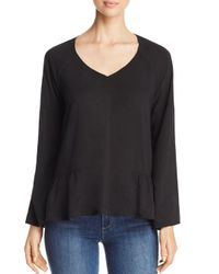 Side Stitch - Black Meadow Bell Sleeve Blouse - Lyst