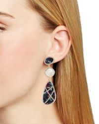 BaubleBar - Multicolor Enna Tiered Pavé Drop Earrings - Lyst