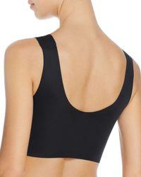 Calvin Klein - Black Comfort Seamless Scoop Neck Wireless Bra - Lyst