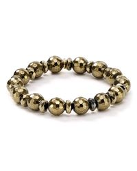 Bourbon and Boweties - Metallic Stretch Bracelet - Lyst