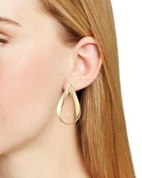 Robert Lee Morris - Metallic Wavy Teardrop Earrings - Lyst