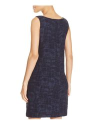 Eileen Fisher - Blue Sleeveless Boat Neck Dress - Lyst