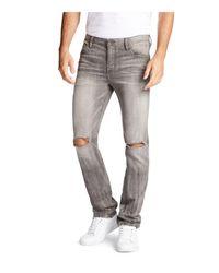 William Rast   Gray Dean Slim Straight Fit Jeans for Men   Lyst