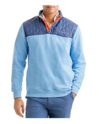 Vineyard Vines | Blue Quilted Shep Sweatshirt for Men | Lyst