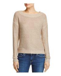 Aqua | Natural Open Back Sweater | Lyst