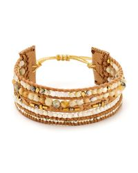 Chan Luu | Natural Mix Leather Bracelet | Lyst