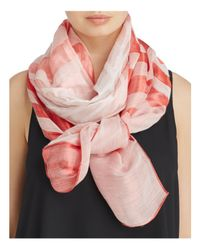 Armani | Pink Ombré Wave Print Scarf | Lyst