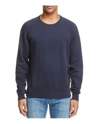 7 For All Mankind | Blue Reverse Terry Side Panel Sweatshirt for Men | Lyst