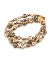 Carolee - Metallic Metropolitan Club Stretch Bracelet - Lyst