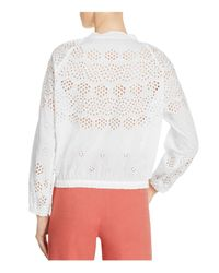 Theory - White Maryana Vintage Eyelet Top - Lyst