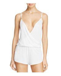 Only Hearts | White Venice Racerback Romper | Lyst
