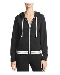Calvin Klein | Black Modern Cotton Full Zip Hoodie | Lyst