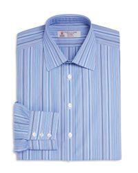 Turnbull & Asser | Blue Multi Stripes Classic Fit Dress Shirt for Men | Lyst