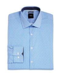 W.r.k. - Blue Dot Stripe Slim Fit Dress Shirt for Men - Lyst