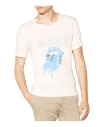 John Varvatos   White Rolling Stones She's So Cold Graphic Tee for Men   Lyst