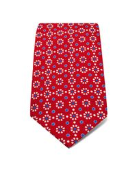 Hilditch & Key   Red Flower Dot Classic Tie for Men   Lyst