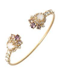Marchesa - Metallic Studded Open Cuff Bracelet - Lyst
