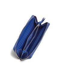 Tory Burch - Blue Alexa Zip Leather Continental Wallet - Lyst