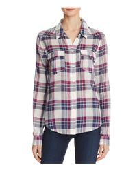 PAIGE - Multicolor Mya Plaid Shirt - Lyst