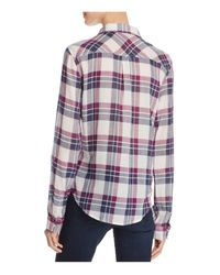 PAIGE - Multicolor Mya Plaid Shirt - Lyst