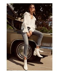 Dolce Vita - White Mazey Studded Leather Booties - Lyst
