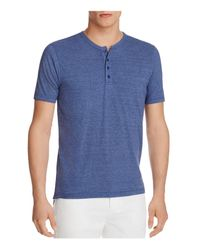 Goodlife | Blue Heathered Henley Tee for Men | Lyst