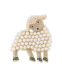 Carolee | Multicolor Lamb Brooch | Lyst