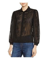 Maje | Black Calek Lace Shirt | Lyst