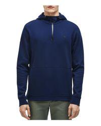 Lacoste   Blue Piqué Double Face Half-zip Hoodie Sweatshirt for Men   Lyst