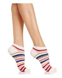 Kate Spade | Multicolor Berber Stripe No-show Socks | Lyst
