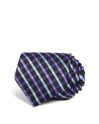 W.r.k. - Black Double Line Check Classic Tie for Men - Lyst