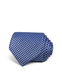 W.r.k.   Blue Textured Square Classic Tie for Men   Lyst